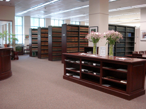 Image of library interior.